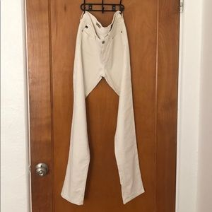 AG courduroy white jeans